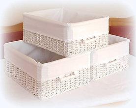Košíky - Košík - v bielom šate - 10457925_