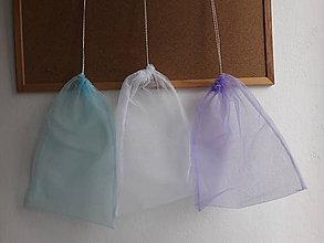 Nákupné tašky - Eko vrecko / eko sáčok na ovocie a zeleninu stredné (Fialová lila) - 10457942_