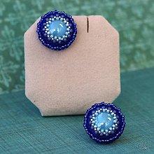 Náušnice - Cupcakes solid (Modrá) - 10459280_