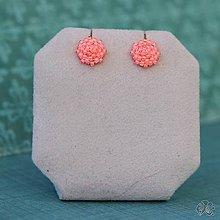 Náušnice - Minizetky (Neon ružové) - 10459350_