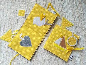 Hračky - Soft book - žltá knižka. - 10458087_