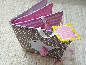 Hračky - Soft book - ružová knižka. - 10458193_