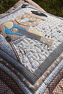 Úžitkový textil - Vankúš so sovou - promócie - hudba... - 10460390_