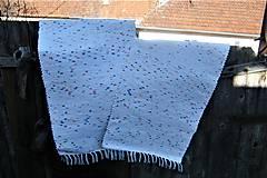 Úžitkový textil - Tkané koberce biele melírované - 10458156_