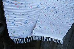 Úžitkový textil - Tkané koberce biele melírované - 10458160_