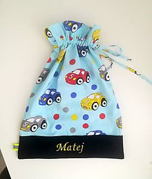 Detské tašky - vrecko s menom - 10464185_