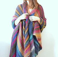 Úžitkový textil - Farebná vlnená prikrývka (colors of magic) - 10464225_