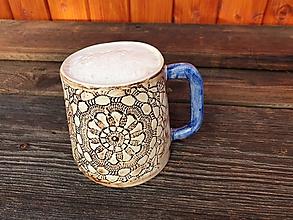 Nádoby - Krígeľ na pivo Sedmikráska 650 ml - 10464227_