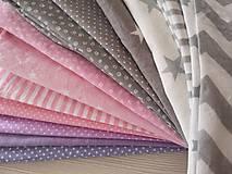 Textil - Patchwork súprava - Elle - deka, vankúš, girlanda - 10462091_