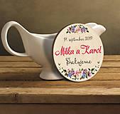 Darčeky pre svadobčanov - Svadobná magnetka - 10460811_
