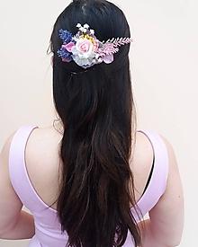 """Ozdoby do vlasov - Kvetinový hrebienok """"Provensálska nostalgia"""" - 10461488_"""