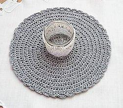 Úžitkový textil - sada 3 ks bledosivých prestieraní - 10460913_
