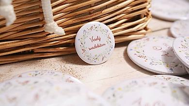 Darčeky pre svadobčanov - Svadobný odznak, svadobná brošňa, button - 10463079_