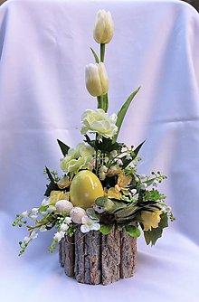 Dekorácie - Veľkonočná ikebana - 10463165_