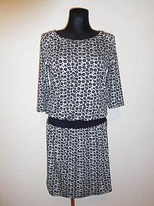 Šaty - Černé kytičky - 10461043_
