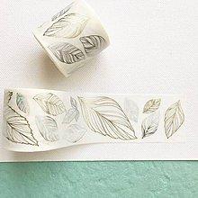 Papier - exkluzívna dekoračná papierová páska Strieborno-zlaté listy - 10460979_