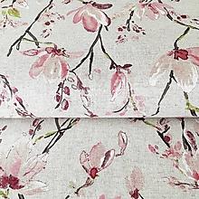 Textil - pevné režné plátno Magnólie, šírka 140 cm - 10460989_