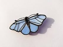 Odznaky/Brošne - Motýlia brošňa (Modrá) - 10461828_