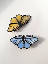 Odznaky/Brošne - Motýlia brošňa (Modrá) - 10461830_