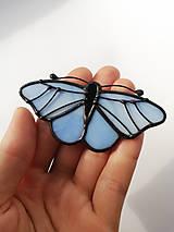 Odznaky/Brošne - Motýlia brošňa (Modrá) - 10461831_
