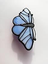 Odznaky/Brošne - Motýlia brošňa (Modrá) - 10461833_