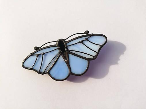 Motýlia brošňa (Modrá)