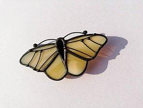 Odznaky/Brošne - Motýlia brošňa (Žltá) - 10461801_
