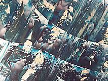 Obrazy - Moonlight in the lake  - XL modro- strieborný, zlatý abstrakt - 10462429_