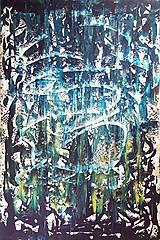 Obrazy - Moonlight in the lake  - XL modro- strieborný, zlatý abstrakt - 10462432_
