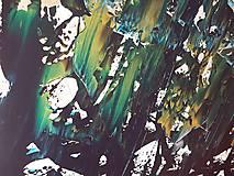 Obrazy - Moonlight in the lake  - XL modro- strieborný, zlatý abstrakt - 10462435_