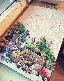 Pomôcky - Doska na krájanie bylinky - 10464231_