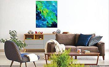 """Obrazy - """"Rieka prúdi"""" akrylová abstraktná maľba - 10461388_"""