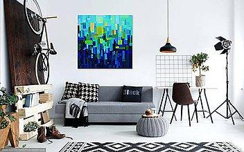 """Obrazy - """"ARCHANES"""" akrylová abstraktná maľba - 10461579_"""