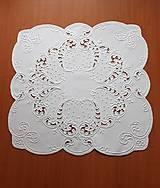 Úžitkový textil - Richellieu, Listy a drobné kvety, biela,  53 x 53 cm - 10461322_