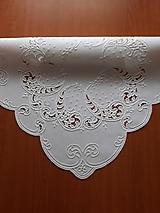 Úžitkový textil - Richellieu, Listy a drobné kvety, biela,  53 x 53 cm - 10461328_