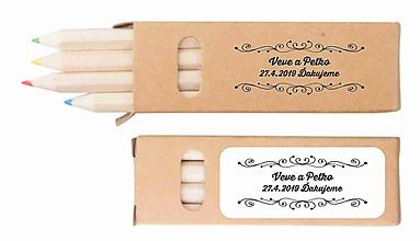 Darčeky pre svadobčanov - Svadobné farbičky Tiny 1 - darček pre hostí - 10464288_