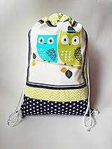 Detský batoh, ruksak, vak - Sovičky