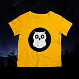 Detské oblečenie - Sovička sova (svietiace detské tričko) - 10463274_