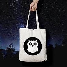 Nákupné tašky - Sovička sova (bavlnená taška) - 10463514_