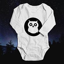 Detské oblečenie - Sovička sova (svietiace detské body) - 10463536_