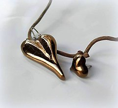 Náušnice - Keramické náušnice - Romantické s troškou extravagancie... - 10460733_
