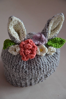 Detské čiapky - Čiapočka zajko v záhrade - 10462808_