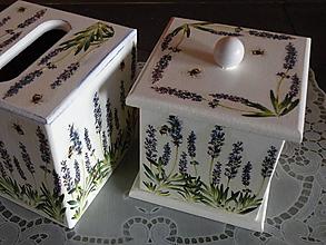 Krabičky - Souprava levandule modrá - 10463651_