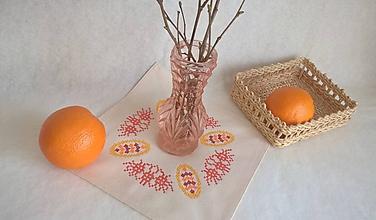 Úžitkový textil - Vyšívaná dečka na stôl - 10463065_