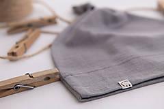 Detské čiapky - Detská rastúca merino čiapka so štýlovým uzlíkom - šedá (34) - 10460632_