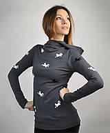 Mikiny - Mikina Black Cat - skladom S - 10460845_