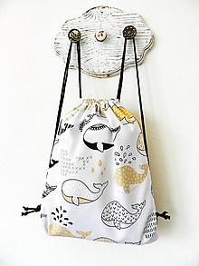 Detské tašky - Ruksačik s veľrybami, 3-6 rokov - 10461422_