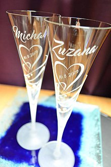 Nádoby - Svadobné čaše - 10464263_