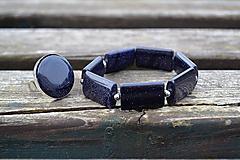 Sady šperkov - Nočná obloha sada náramok a prsteň - 10463163_