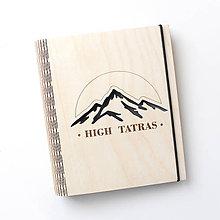 """Papiernictvo - Drevený zápisník """"High Tatras"""" - 10461618_"""